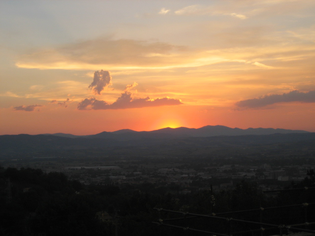 tramonto rosso 1 (Terni – Macchia di Bussone)