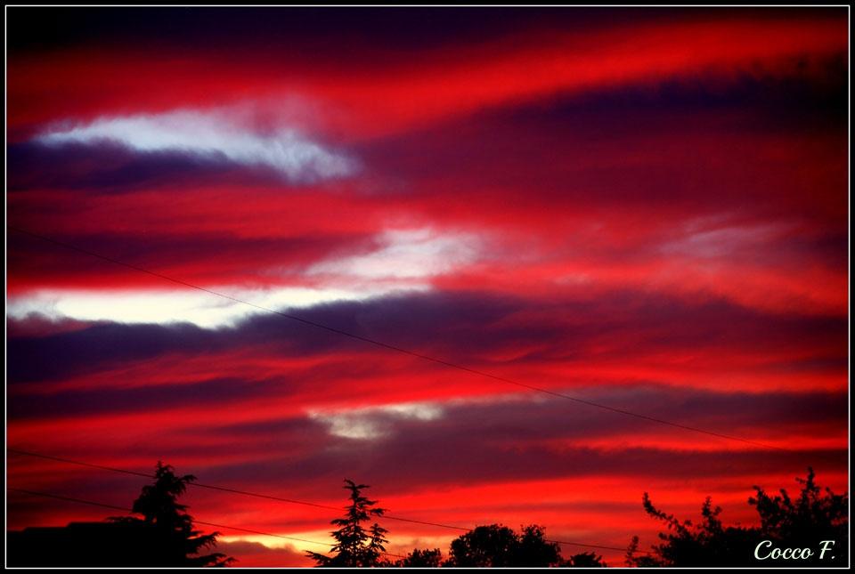 foto al tramonto in Tramonto infuocato da Campoverde (LT)