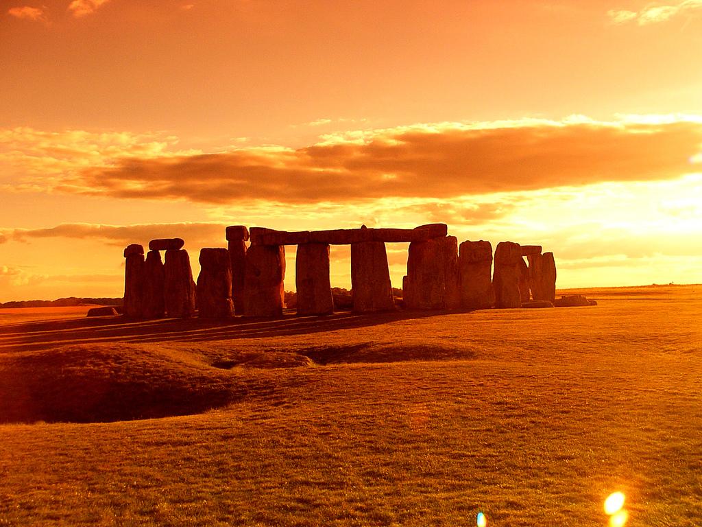 una foto di tramonto dallo Stonehenge ilmiotramonto.com