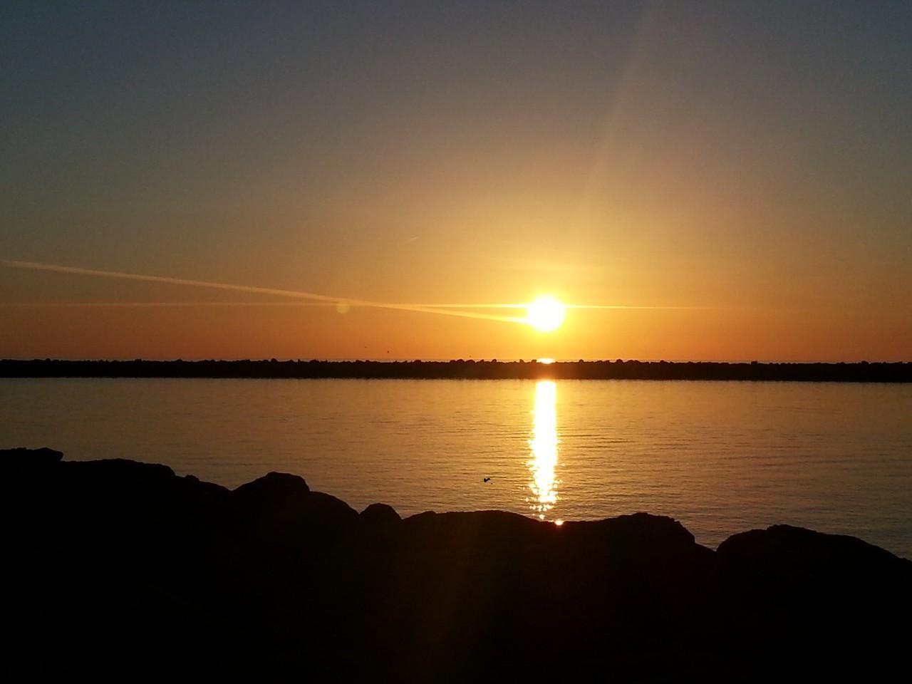 foto al tramonto in Tramonto Bosa Marina (Oristano)