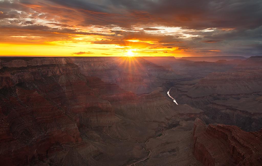 una foto di tramonto dal Grand Canyon ilmiotramonto.com