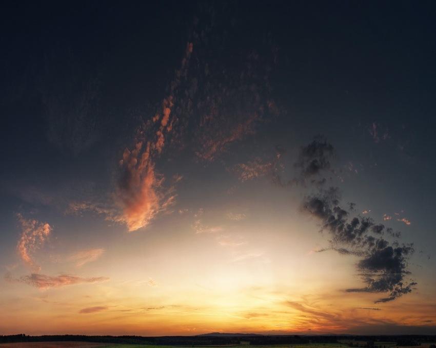 foto al tramonto in Tramonto da Marina di Ragusa