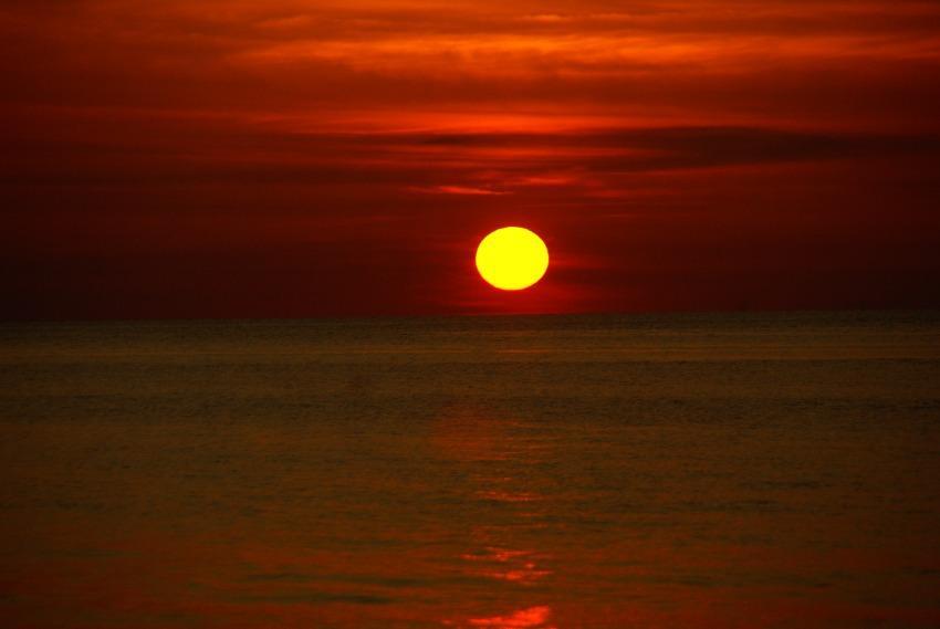 foto al tramonto in tramonto al calar da Messina