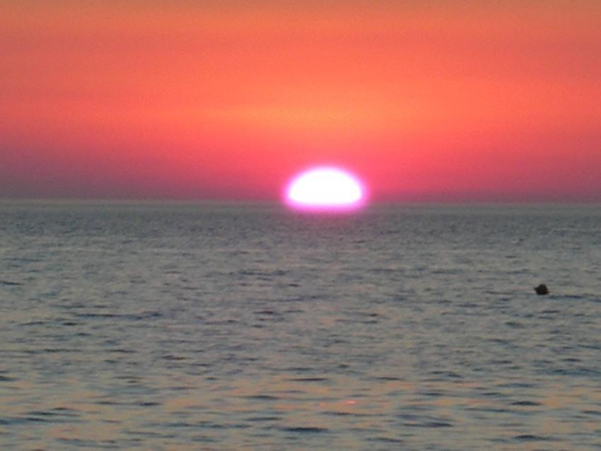 foto al tramonto in tramonto da Gallipoli