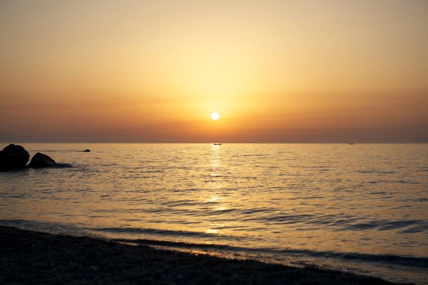 foto al tramonto in Tramonto a san Saba (Messina)