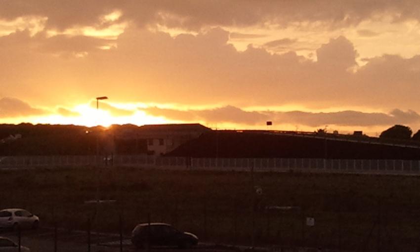 Un tramonto al lavoro