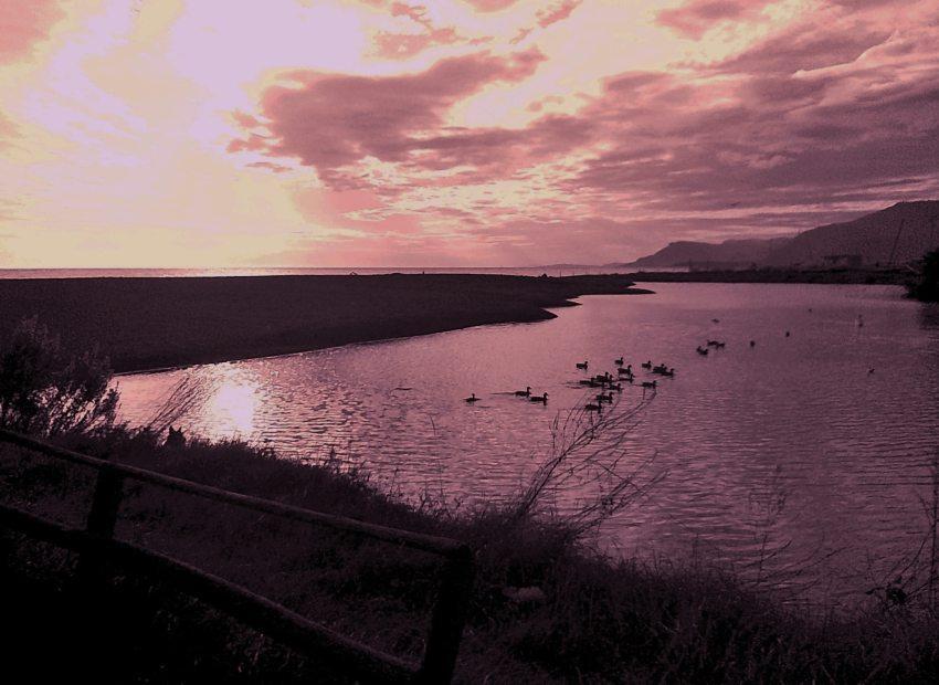 foto al tramonto in tramonto mozzafiato da Bordighera (IM)