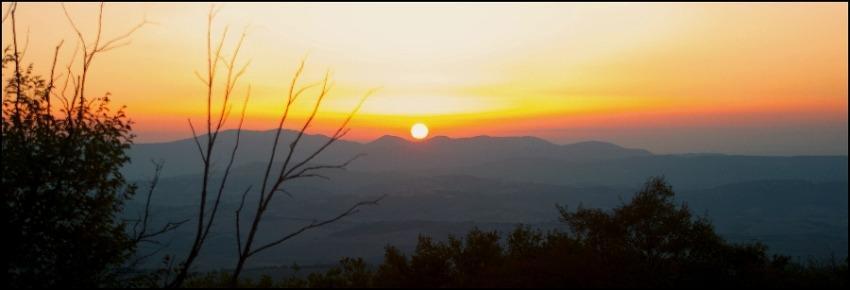 foto al tramonto in Tramonto di ottobre a Loc. Scoppio Comune di Acquasparta (TR)