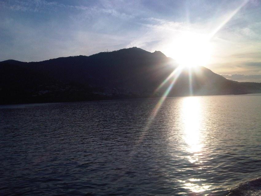 foto al tramonto in Tramonto da Ischia