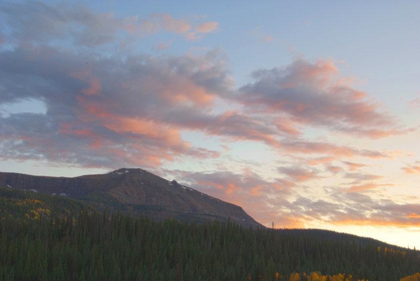 foto al tramonto in Fotografia di un tramonto dal Colorado in America