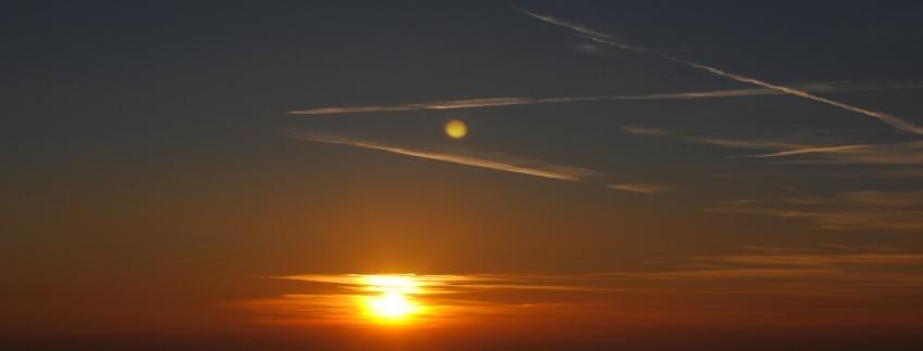 foto al tramonto in Tramonto in Valcamonica da Montecampione 1800
