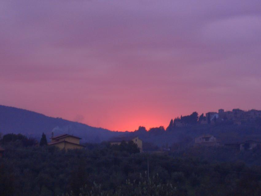 stupenda sensazione che dura pochi secondi carpe diem tramonto a Montecchio Giano Umbria