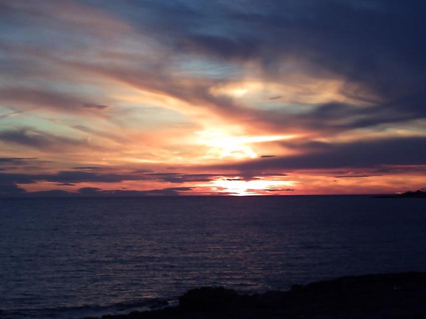 foto al tramonto in Tramonto Estivo dalle coste di Mancaversa di Lecce