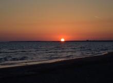 tramonto-delicato-sulla terra-a-latina