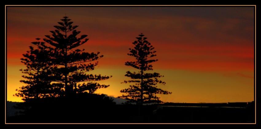 tramonto in citta