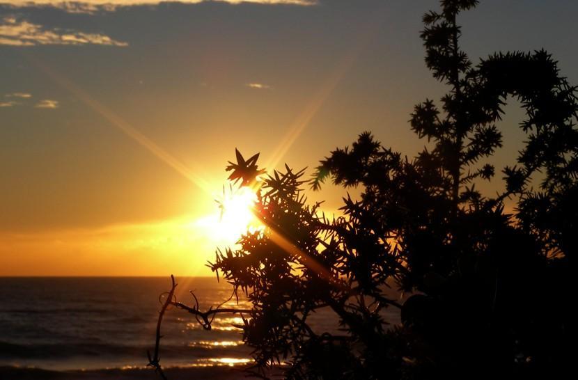 il sole dietro le dune