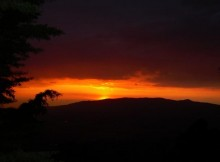 tramonto su velletri da roccamassima provincia di latina