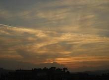 tramonto >> foto di tramonto scattato vicino Ancona