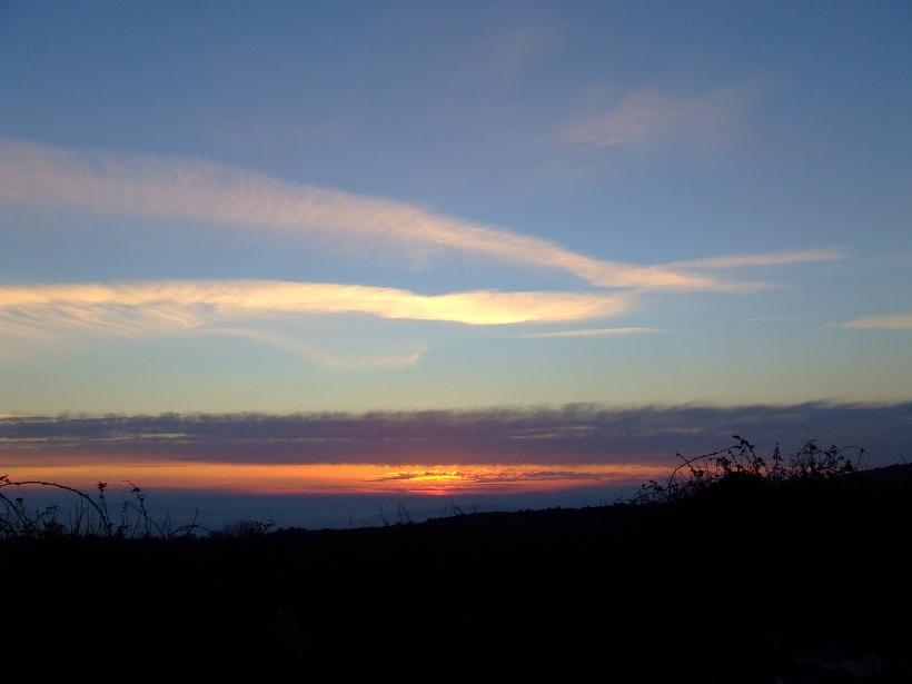 """foto al tramonto in Tramonti dall'Etna  """"la fine del 25 Febbraio 2008"""""""