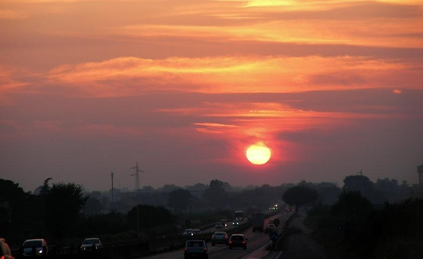 Viaggiando incontro al tramonto