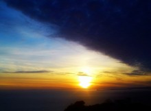 tramonto in montagna