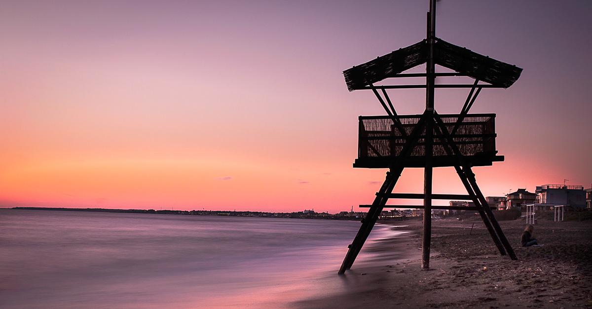 foto al tramonto in Sunset in Latina – tramonto a Latina